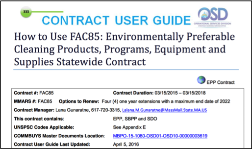 Contract User Guide