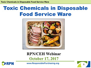 toxic chemicals in food service ware